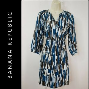 Banana Republic Woman Elastic Waist Dress Size 0P